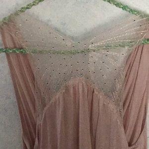 front drape, back rhinestone butterfly back top